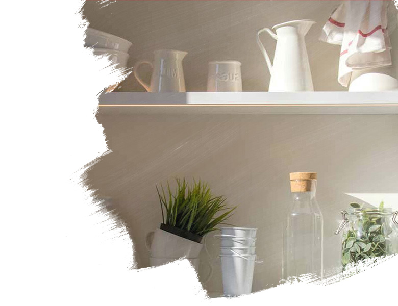 shelf with crockery